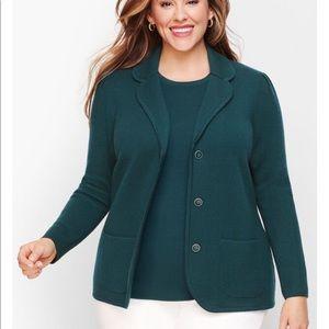 NWT Talbots sweater blazer